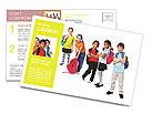 Schoolchildren Postcard Templates