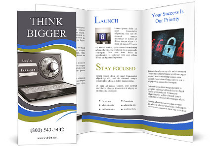computer security system brochure template design id 0000008318