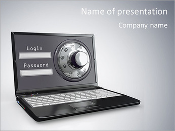Computer Security System PowerPoint Template