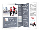 Jogging on the beach Brochure Templates