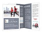 Jogging on the beach Brochure Templates