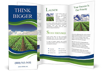 Cultivation of agricultural crops brochure template for Agriculture brochure templates