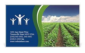 Cultivation of agricultural crops Business Card Template