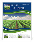 Cultivation of agricultural crops Flyer Template