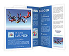 Team parachutists Brochure Templates