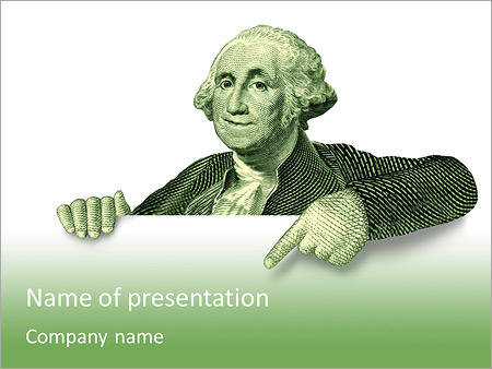 the image of an american president powerpoint template backgrounds