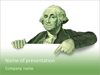 The image of an American president PowerPoint Template