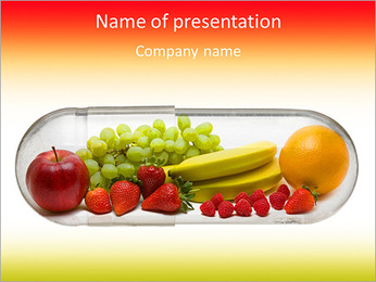 The fruitiness is set PowerPoint Template