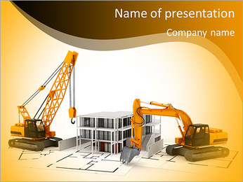 Demolition of buildings PowerPoint Template