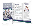 Training on a treadmill Brochure Templates
