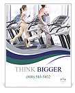 Training on a treadmill Poster Templates