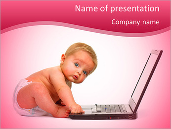 Baby and Technology PowerPoint Template