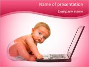 Baby and Technology PowerPoint Templates