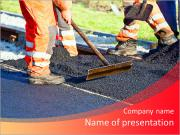 Laying asphalt PowerPoint Templates