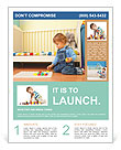 A child plays Flyer Template