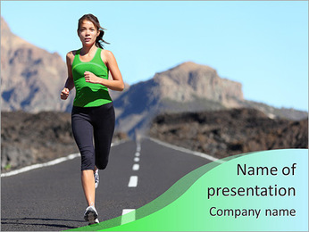 Running as part of the health PowerPoint Template