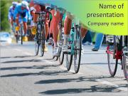 Competition bikes PowerPoint Templates