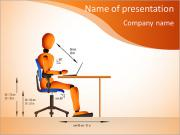 Someone in a chair PowerPoint Templates