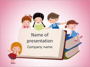 Çocuklar ABC PowerPoint sunum şablonları