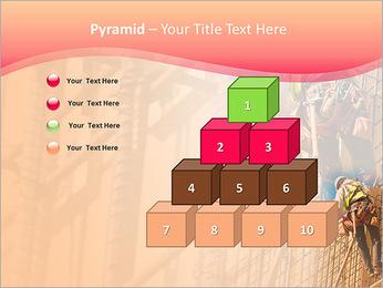 Trabalhador da construção a uma altura Modelos de apresentações PowerPoint - Slide 11