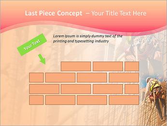 Trabalhador da construção a uma altura Modelos de apresentações PowerPoint - Slide 26