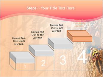 Trabalhador da construção a uma altura Modelos de apresentações PowerPoint - Slide 44
