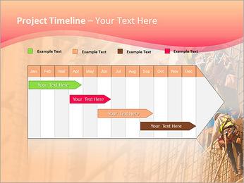 Trabalhador da construção a uma altura Modelos de apresentações PowerPoint - Slide 5