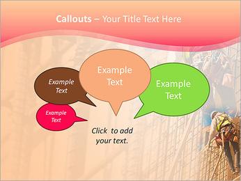 Trabalhador da construção a uma altura Modelos de apresentações PowerPoint - Slide 53