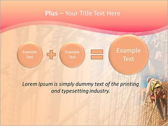 Trabalhador da construção a uma altura Modelos de apresentações PowerPoint - Slide 55
