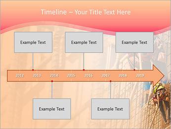 Trabalhador da construção a uma altura Modelos de apresentações PowerPoint - Slide 8