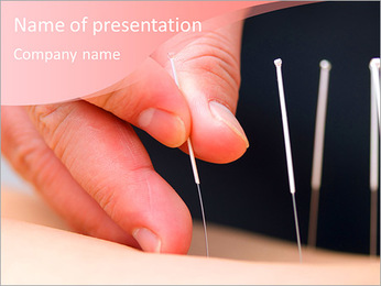 Spa treatments acupuncture PowerPoint Template