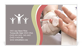 Blood collection Business Card Template