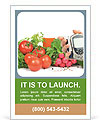 Fresh vegetables Ad Templates