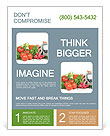 Fresh vegetables Flyer Template