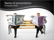Management with money PowerPoint Templates