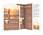 Jogging at sunset Brochure Templates