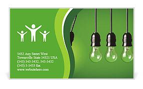 Energy-saving technologies Business Card Template