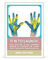 World paints on hands Ad Template