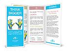 World paints on hands Brochure Templates