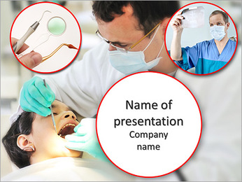 The reception at the dentist PowerPoint Template