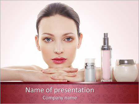 Cosmetics powerpoint template backgrounds id 0000008387 cosmetics powerpoint templates toneelgroepblik Images