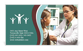 The Reception Was At The Pediatrician Business Card Template