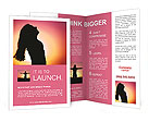Silhouette of a girl at sunset Brochure Templates