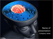 O núcleo do cérebro Modelos de apresentações PowerPoint