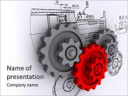 Part of the mechanism PowerPoint Templates