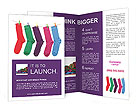 Multi-colored socks Brochure Templates