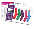 Multi-colored socks Postcard Templates