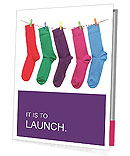 Multi-colored socks Presentation Folder