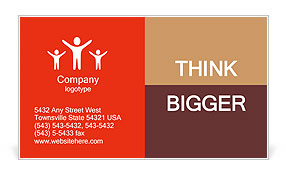 First-graders Business Card Template