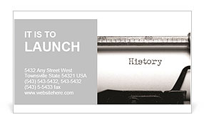 The old school typewriter Business Card Templates